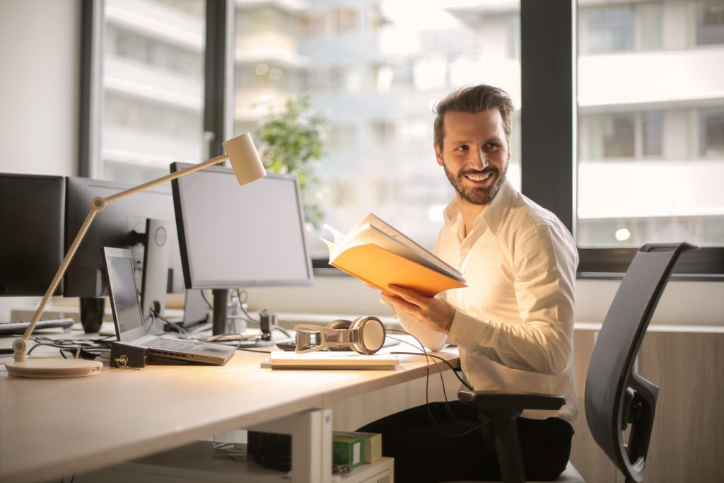 image of a happy businessman